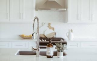 kitchen sink in custom kitchen