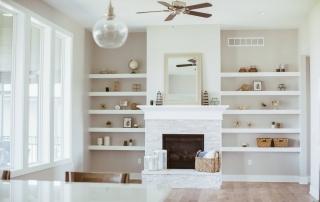 custom shelves in custom home